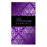 violeta vivaz del damasco 311-Dazzling Tarjetas De Visita
