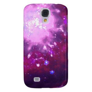 Violeta y nebulosa de Borgoña Funda Para Galaxy S4
