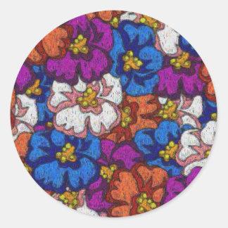 Violetas abstractas - pegatina