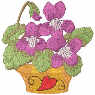 Violetas comunes en pote