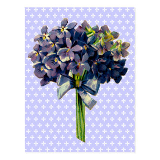 Violetas del vintage postal