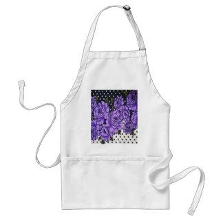 violetas delantal