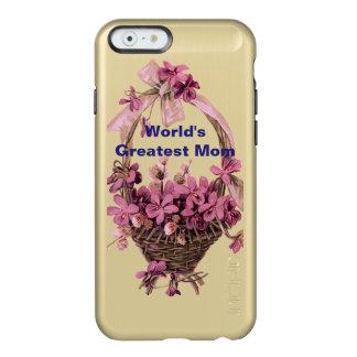 Violetas en una cesta para la mamá funda para iPhone 6 plus incipio feather shine