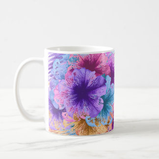 Violetas idas salvajes taza básica blanca