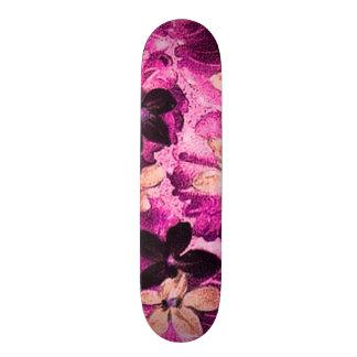 Violetas púrpuras beige rosadas florales del patines personalizados