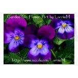 Violetas púrpuras felicitacion