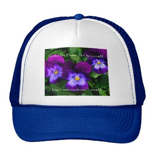 Violetas púrpuras gorro de camionero