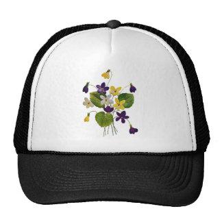 Violetas salvajes clasificadas hechas en bordado gorro