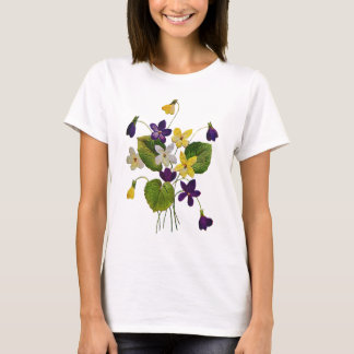Violetas salvajes clasificadas hechas en bordado playera