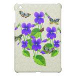 Violetas y mariposas
