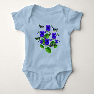Violetas y mariposas body para bebé