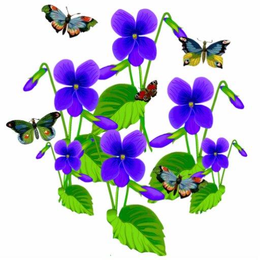 Violetas y mariposas fotoescultura vertical