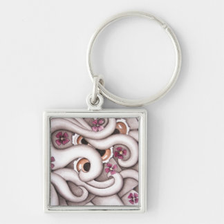 Violets Abstract Floral Key chain