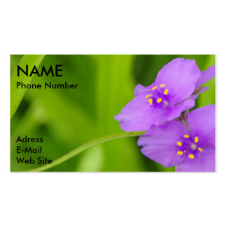 Violets and Green Grass Customize Business Card