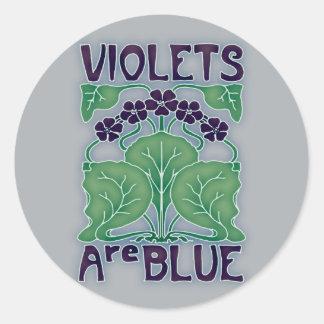 Violets Are Blue Classic Round Sticker