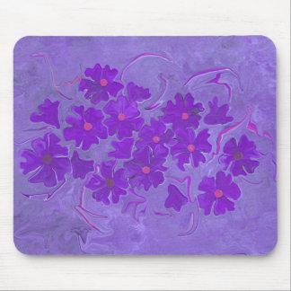 Violets are blue flower art print mouse pad