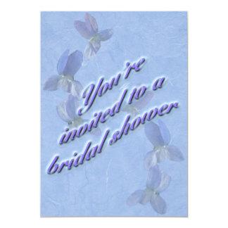 Violets Bridal Shower Invitation