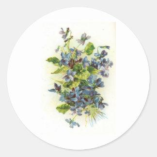 violets classic round sticker