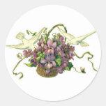 Violets & Doves - Sticker