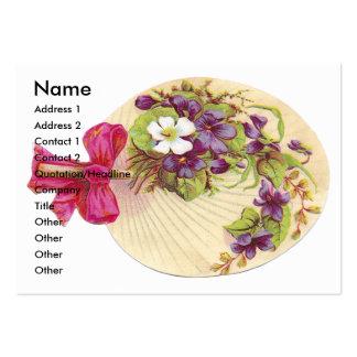 Violets Fan Victorian Scrapbook Card Business Card Template