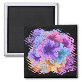 Violets Gone Wild 2 Inch Square Magnet