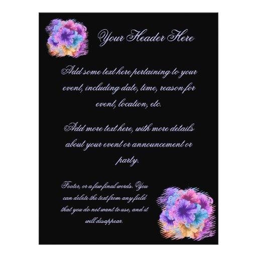 """Violets Gone Wild 8.5"""" X 11"""" Flyer"""