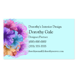 Violets Gone Wild Double-Sided Standard Business Cards (Pack Of 100)