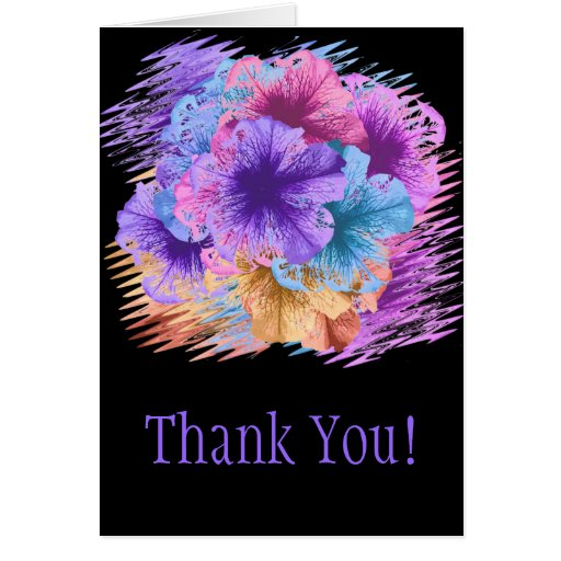 Violets Gone Wild Thank You Card