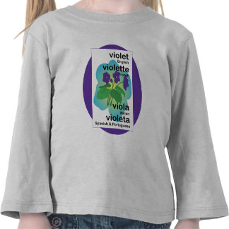 Violets in Many Languages Tees