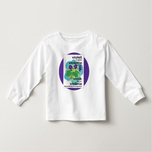 Violets in Many Languages Tshirts