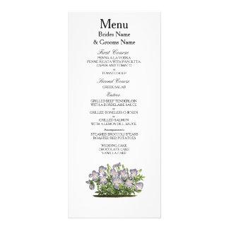 Violets Modern Simple Elegant WeddingIdeas Rack Card