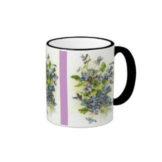 violets coffee mugs