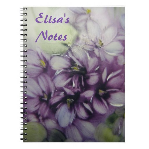 Violets personalized Notebook