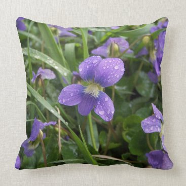 Beach Themed Violets Pillow