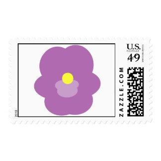 Violets Postal Stamp-Cost. Stamps