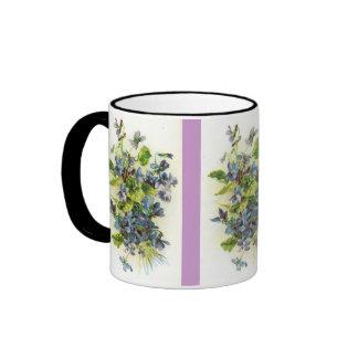 violets ringer coffee mug