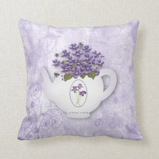 Violets Teapot Pillow