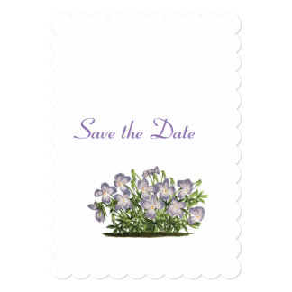 Violets Wedding Day Theme Save the Date Card