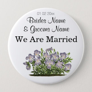 Violets Wedding Souvenirs Keepsakes Giveaways Button