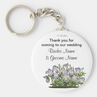 Violets Wedding Souvenirs Keepsakes Giveaways Keychain