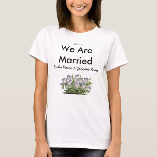 Violets Wedding Souvenirs Keepsakes Giveaways T-Shirt