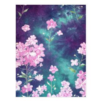 violets with sky fund postcard