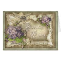 Violette Birthday Card