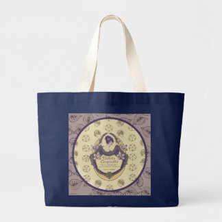 Violette Coquette French Soap Label Large Tote Bag