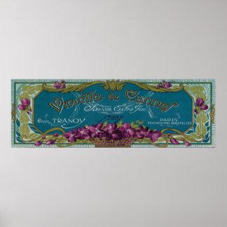 Violette De Cannes Soap LabelParis, France Posters