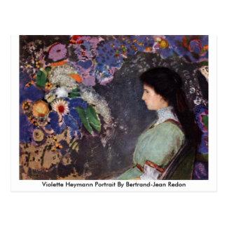 Violette Heymann Portrait By Bertrand-Jean Redon Postcard