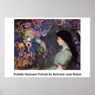 Violette Heymann Portrait By Bertrand-Jean Redon Posters