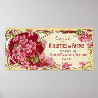 Violettes De Parme Perfume LabelParis, France Poster