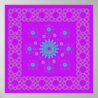 Violettes Mandala Plakat