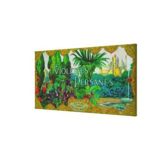 Violettes Persanes Soap LabelParis, France Canvas Print
